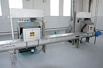 Two screens installed in parallel discharging into one screw conveyor