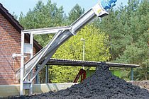 HUBER ROTAMAT® Screw Conveyor Ro 8t after a sludge dewatering system