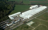 30,000 m²  main production factory and offices of HUBER SE in Germany